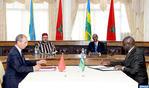 SM el Rey y el presidente ruandés presiden la ceremonia de firma de 19 convenios y acuerdos bilaterales