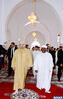 SM el Rey, Amir Al Muminin, acompañado por el presidente gabonés, cumple la oración del viernes en la mezquita Al Qods en Fez