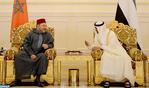 SM el Rey se entrevista en Abu Dhabi con SA Jeque Mohamed Ben Zayed Al-Nahyane