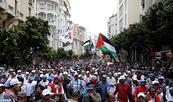 Marcha popular en Casablanca en solidaridad con el pueblo palestino