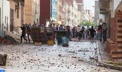 Dos elementos de las fuerzas públicas heridos en la cabeza por lanzamiento de piedras  en Alhucemas se encuentran en estado grave,  según las autoridades locales