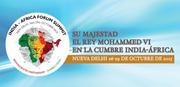 SU MAJESTAD EL REY MOHAMMED VI EN LA CUMBRE INDIA-ÁFRICA
