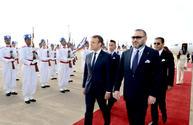 El presidente francés Emmanuel Macron llega a Marruecos