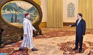 SM el Rey recibe en Pekín al presidente del Comité Permanente de la Asamblea Popular Nacional de China