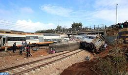 Varias víctimas en el descarrilamiento de un tren de pasajeros cerca de Bouknadel