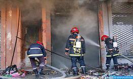 Declarado un incendio durante la evacuación de migrantes subsaharianos que ocupaban un edificio de la ONCF en Fez sin causar víctimas