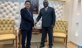 Bourita se reúne en Libreville con el ministro gabonés de AA.EE.