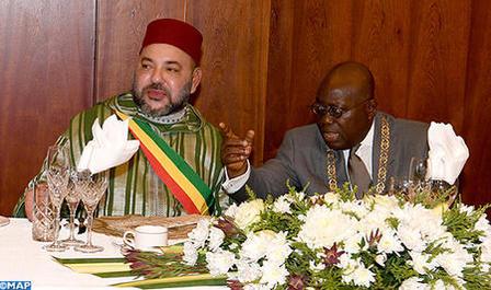 El Presidente de Ghana ofrece un almuerzo oficial en honor de SM el Rey