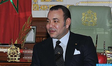 SM el Rey recibe en Marrakech a Pierre Bergé, presidente de la Fundación Jardín Majorelle (Gabinete Real)