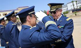 Ceremonia en la primera base aérea de Salé con motivo del 63º aniversario de la creación de las FAR