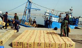 Nador: la Marina Real persigue y detiene una lancha rápida presuntamente usada en el tráfico de estupefacientes