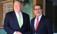 El desarrollo de los intercambios comerciales y la promoción de las inversiones centran entrevista en Rabat entre El Otmani y Pompeo
