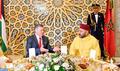 SM le Roi offre un dîner officiel en l'honneur du Souverain hachémite de Jordanie