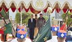 Cérémonie d'accueil officiel à Casablanca du Président de la République portugaise