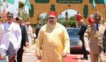 """SM le Roi, Amir Al Mouminine, accomplit la prière du vendredi à la mosquée """"Ibadou Arrahamne"""" à Casablanca"""