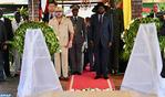 SM le Roi visite à Juba le mausolée du père de l'indépendance du Soudan du Sud, John Garang
