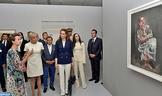 """L'épouse du président français et LL.AA.RR. les Princesses Lalla Salma et Lalla Oum Kaltoum visitent l'exposition """"Face à Picasso"""" au Musée Mohammed VI d'art moderne et contemporain à Rabat"""