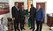 M. Talbi Alami rencontre à Abidjan les athlètes marocains participant à la 8è édition des Jeux de la Francophonie
