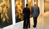 "Vernissage à Casablanca de l'exposition ""Indivision"" de Mahi Binebine et Hassan Darsi"