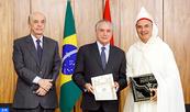 Le nouvel ambassadeur du Maroc à Brasilia remet ses lettres de créance au président Michel Temer