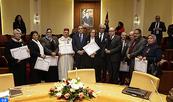 Remise de Wissams royaux à des fonctionnaires de la Chambre des représentants