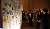 Vernissage à la galerie Bab Mansour de l'exposition couronnant le 1-er symposium des arts de Meknès