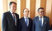 Anass Doukkali s'entretient à Genève avec le patron de l'OMS