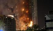 Au moins 16 blessés dans un gigantesque incendie affecant un hôtel à Dubaï