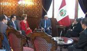 M.Talbi Alami s'entretient à Lima avec la présidente du Parlement péruvien