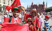 Les marocains sur la Place Rouge pour soutenir les Lions de l'Atlas