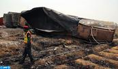 Un camion de carburant s'enflamme au Pakistan, au moins 139 morts