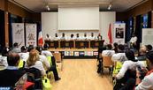 Cérémonie d'accueil à Paris du 6-ème Tour international de solidarité des motos de la Marche verte