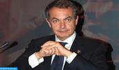 """M. Zapatero se dit convaincu que les relations """"positives"""" entre l'Espagne et le Maroc seront consolidées avec le nouveau gouvernement espagnol"""
