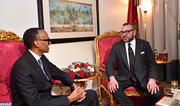 Entretiens en tête-à-tête à Addis-Abeba entre SM le Roi et le président de la République du Rwanda