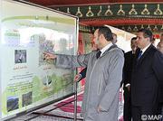 SM le Roi donne le coup d'envoi du projet d'aménagement hydro-agricole du périmètre du Moyen Sebou et d'Inaouen Aval, d'un coût global de 865 MDH