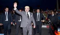 Arrivée de SM le Roi à Laâyoune