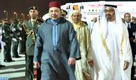 Arrivée de SM le Roi aux Emirats arabes Unis pour une visite de fraternité et de travail