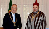 Entretiens en tête-à-tête entre SM le Roi et le Président portugais