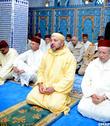 SM le Roi, Amir Al Mouminine, accomplit la prière du vendredi à la mosquée Mohammed VI à M'Diq