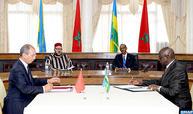 SM le Roi et le chef de l'Etat rwandais président la cérémonie de signature de 19 conventions et accords bilatéraux