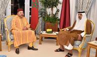 Entretiens entre Sa Majesté le Roi et l'Emir de l'État du Qatar