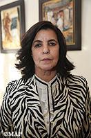 Mme Fatna Lkhiyel, secrétaire d'Etat auprès du ministre de l'aménagement du territoire national, de l'urbanisme, de l'habitat et de la politique de la ville, chargée de l'habitat