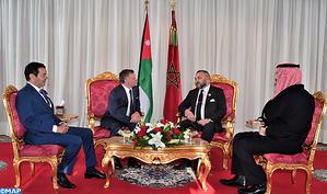 Rencontre au Cabinet Royal à Rabat entre SM le Roi et le Souverain hachémite de Jordanie