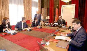 SM le Roi préside au Palais Royal de Rabat une séance de travail dédiée à l'examen de l'avancement des projets d'énergies renouvelables portés par MASEN