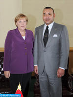 Entretien téléphonique entre SM le Roi et la chancelière Allemande Madame Angela Merkel (Cabinet Royal)