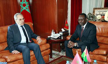M. Loudyi reçoit le Premier ministre et ministre burkinabé de la Défense