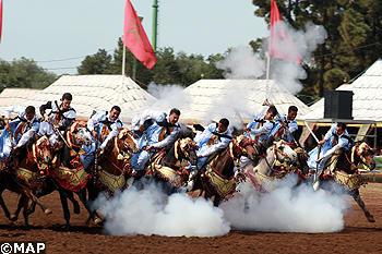 13è championnat du Maroc des arts équestres traditionnels (Tbourida)