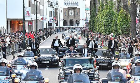 Arrivée à Rabat de SM le Roi Abdallah II de Jordanie pour une visite officielle au Maroc