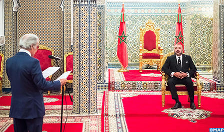 SM le Roi reçoit le Wali de Bank Al Maghrib