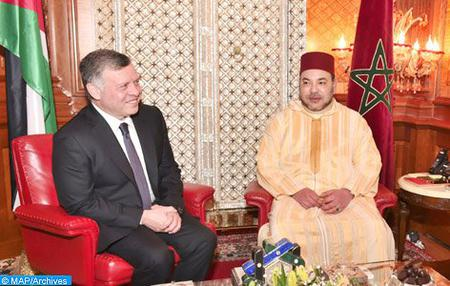 SM le Roi Abdallah II de Jordanie en visite officielle au Maroc du 22 au 24 mars